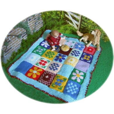 1:12th scale summer picnic blanket