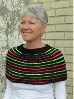 Neon Shoulder Cowl in Plymouth Encore Worsted - F503