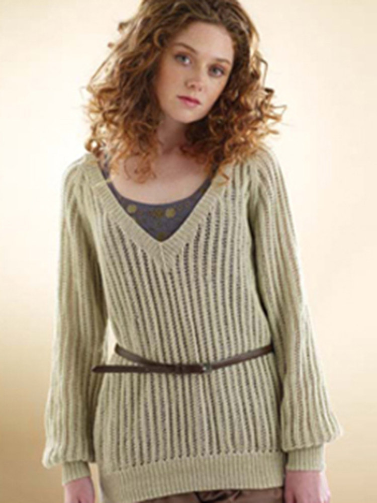 Rowan Slouchy Lace Sweater In Rowan Wool Cotton 4 Ply Knitting