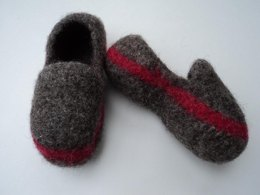 Kids Slippers Loafer Style Felted Knit