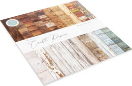 """Craft Consortium Double-Sided Paper Pad 12""""X12"""" 30/Pkg - Wood Textures, 20 Designs"""