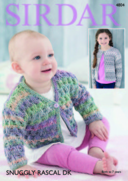 Cardigans in Sirdar Snuggly Rascal DK - 4804 - Downloadable PDF