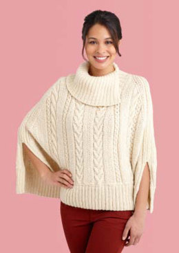 Galway Poncho in Lion Brand Fishermen's Wool - L10690