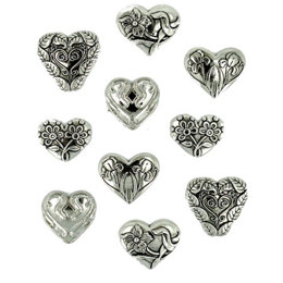 Dress It Up Hearts Assorted Silver
