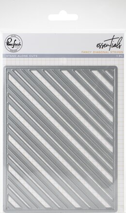 Pinkfresh Studio Essentials Die - Fancy Diagonal Stripes