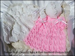 "'English Country Garden' Knitting pattern for doll 16-22"" or newborn/0-3m baby"