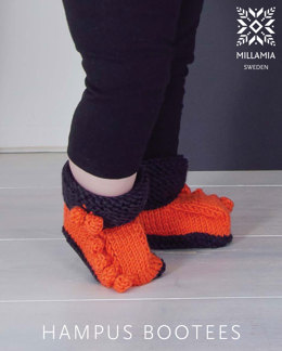 Hampus Bootees in MillaMia Naturally Soft Aran