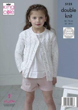 Cardigans in King Cole Cottonsoft Candy DK - 5123pdf - Downloadable PDF