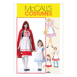 McCall's Misses'/Children's/Girls' Storybook Costumes M6187 - Sewing Pattern