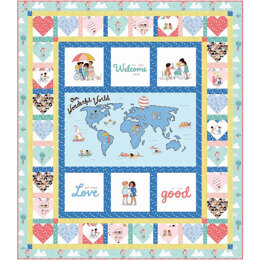 Michael Miller Fabrics Spread The Love Quilt Kit - Wonderful World