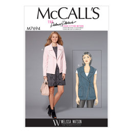 McCall's Misses' Moto-Style Jacket and Vest M7694 - Sewing Pattern