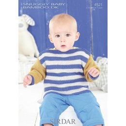 Baby's and Boy's Sweaters in Sirdar Snuggly Baby Bamboo DK - 4521
