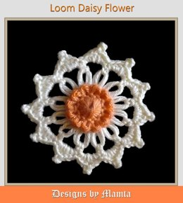 Crochet Loom Daisy Flower Pattern Unique Easy