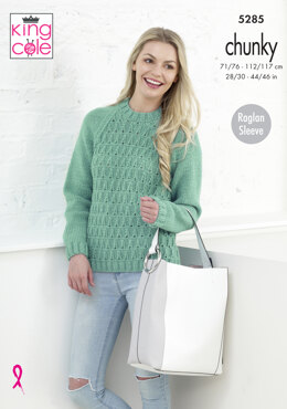 Sweater & Cardigan in King Cole Magnum Chunky - 5285 - Leaflet