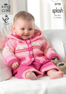 Baby Set in King Cole Splash DK and King Cole Big Value Baby DK - 3770