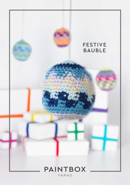 """Festive Bauble"" - Crochet Pattern For Christmas in Paintbox Yarns Simply DK - DK-XMAS-CRO-001"