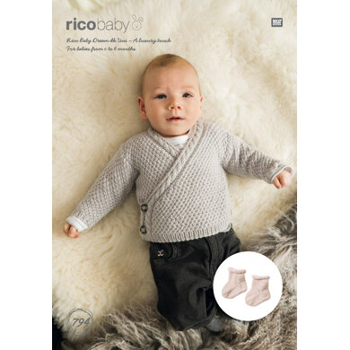 Cardigan and Socks in Rico Baby Dream DK Uni - 794 - Downloadable PDF
