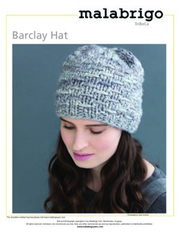 Barclay Hat in Malabrigo Rasta - Downloadable PDF