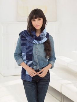 Kassidy Scarf in Lion Brand Jeans - L60203
