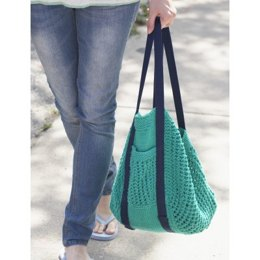 Go Green Market Bag in Lily Sugar 'n Cream Solids