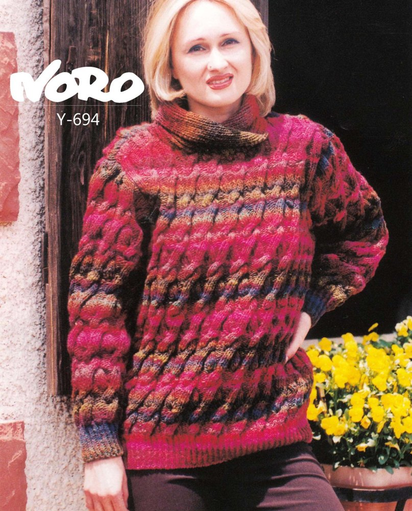 Cabled Sweater In Noro Kureyon Knitting Patterns