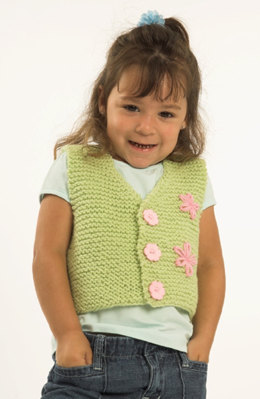 Toddler Vest in Plymouth Encore Worsted - F175