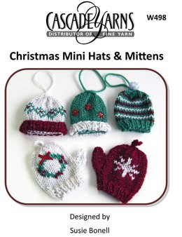 Christmas Mini Hats & Mittens in Cascade Hollywood - W498
