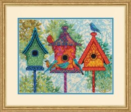 Dimensions Colourful Birdhouses Tapestry Kit - 35.56 x 27.94cm