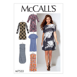 McCall's Misses'/Women's Fitted, Sheath Dresses M7533 - Sewing Pattern