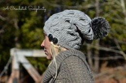 Hourglass Cabled Beanie & Slouch