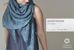 """SecretKeeper Lace Shawl by Melanie Berg"" - Women's Shawl Knitting Pattern"