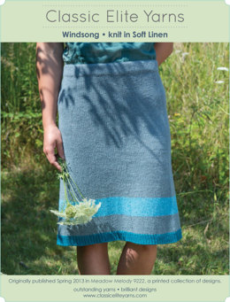 Windsong Skirt in Classic Elite Yarns Soft Linen - Downloadable PDF