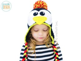 Floppy the Penguin Hat PDF Crochet Pattern