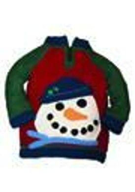 Peek-A-Boo Snowman Sweater