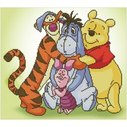 Vervaco Disney Pooh with Friends Diamond Painting Kit