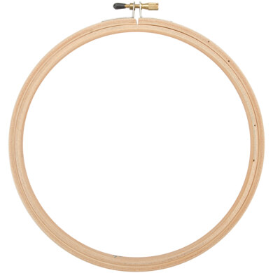Frank A. Edmunds Wood Embroidery Hoop 7in w/ round edges