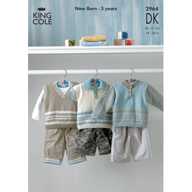 Sweaters in King Cole Big Value Baby DK - 2964
