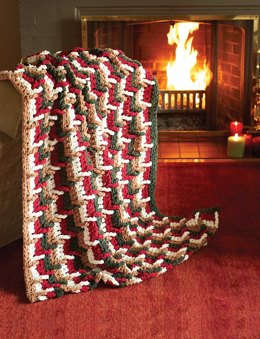 Step Ladder Afghan in Bernat Blanket Holiday
