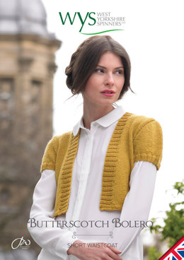 Butterscotch Bolero in West Yorkshire Spinners Aire Valley DK - Downloadable PDF