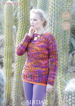 Rosita Sweater in Sirdar Divine - 7328