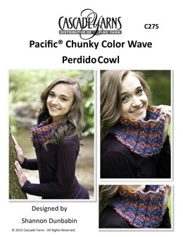 Color Wave Perdido Cowl in Cascade Yarns Pacific Chunky - C275 - Downloadable PDF
