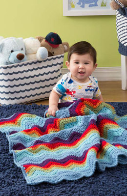 Zigzag Baby Blanket in Red Heart US - LW4222 - Downloadable PDF