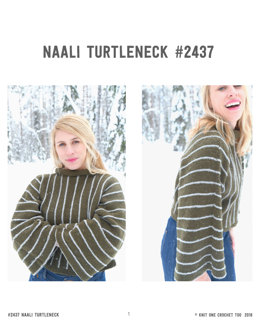 Naali Turtleneck in Knit One Crochet Too Allagash - 2437 - Downloadable PDF