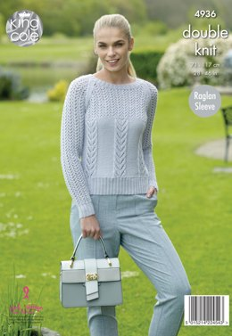 Sweater & Cardigan in King Cole Luxury Merino DK - 4936 - Leaflet