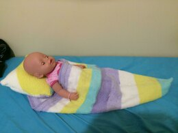 Caron Cake Cocoon Baby Blanket and Pillow Pattern