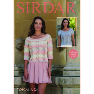 3/4 and Short Sleeved Tops in Sirdar Toscana DK - 7977 - Downloadable PDF