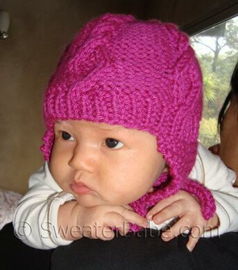 59a23371b600 88 Diamond Cabled Baby Hat Knitting pattern by SweaterBabe.com ...
