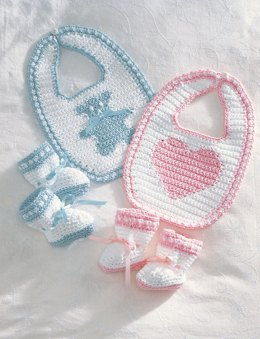Sweetheart or Teddy Set in Bernat Handicrafter Cotton Solids