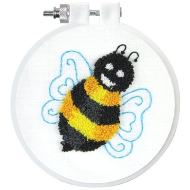 Design Works Bumble Bee Punch Needle Kit - 7.5cm