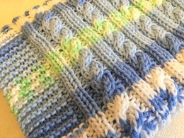 Aran Cable Baby Blanket